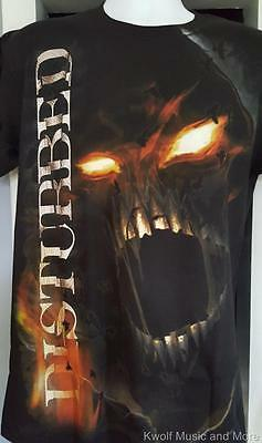 """DISTURBED T-Shirt  """"Outrage""""   Official/Licensed  S, M, L, XL, 2XL  NEW"""