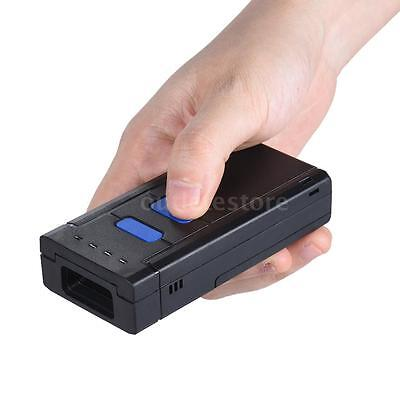 Portable Bluetooth Wireless 1D QR Barcode Image Scanner Reader for IOS Android