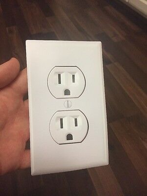 (12 Pack!) Fake Wall Outlet! Funny Decal Airport Prank Joke Sticker