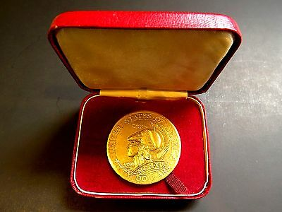 1915 Original Coca Cola Convention Pan Pac $50 Medal /slug With Original Box
