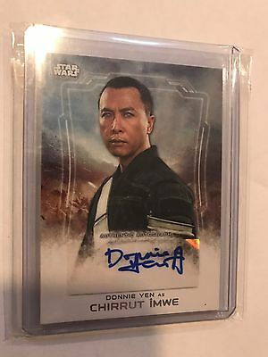 2016 Topps Star Wars Rogue One 1 autograph Donnie Yen as CHIRRUT IMWE