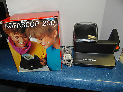 Vintage Agfa Scop Agfascop 200 Electric  Slide Viewer Tested Made In Germany