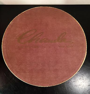 "Vintage Chanda New York Hat Box 10.75"" Diameter Hat Box"