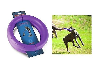 """Dog Toy PULLER 7.9/"""" Training Tool 2 Rings in set For MEDIUM /& SMALL Dogs Puppies"""