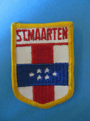ST. MAARTIN Shield Patch Hat Jacket Biker Vest Backpack Travel Country B