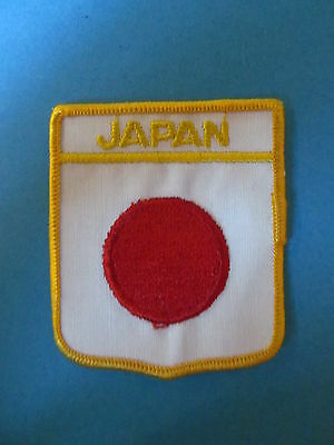 JAPAN Shield Patch Hat Jacket Biker Vest Backpack Travel Country Crest A
