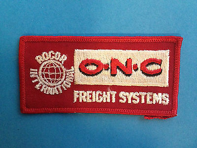 Vintage O N C Freight Systems Roncor International Trucking Hat Jacket Patch
