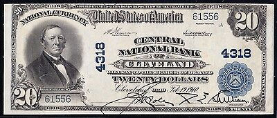 Fr653 $20 Central Nb Of Cleveland, Ohio #4318 Vernon / Mcclung Xf Hw2468