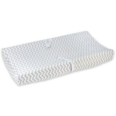Carter's Baby Super Soft Chevron Velboa Changing Pad Cover 34333CL, Grey/White