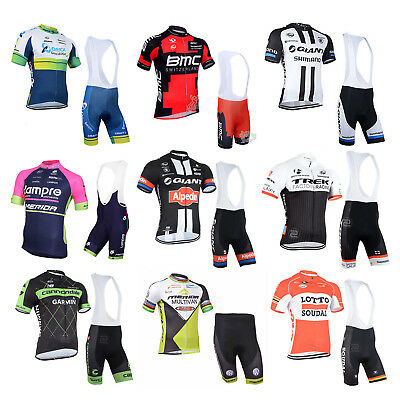 New Sports Team Cycling Bike Bicycle Clothing Jersey Shirts Bib Paded Short Kit