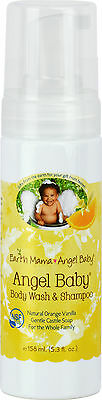 Angel Baby Shampoo & Body Wash, Earth Mama Angel Baby, 5.3 oz Orange Vanilla