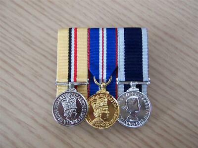 3 Miniature Medals Court Mounted Ready For Wear
