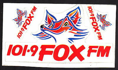 Vintage Radio Sticker 101.9 Fox Fm