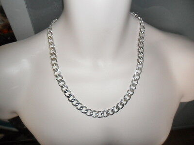 """Mens Heavy 925 Silver Plated SS CUBAN Curb Chain Necklace 8mm 22"""" great gift"""