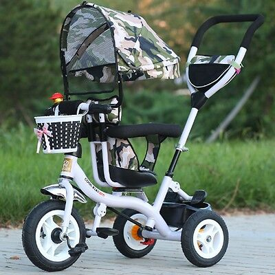 New Baby Stroller Swivel Seat Kids Ride On Toys Camo Sunshade Pram Toddler Buggy