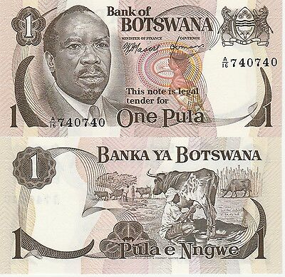 Botswana 1 Pula Banknote,(1976) Uncirculated Condition Cat#1-A-0740