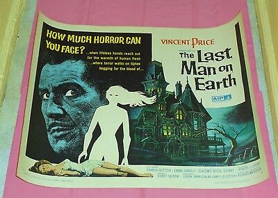 original THE LAST MAN ON EARTH half-sheet poster Vincent Price
