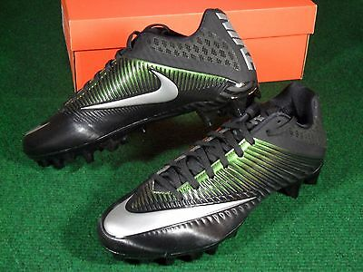 New Mens Nike Vapor Speed 2 TD Low Football Cleats Black Metallic Silver 833380