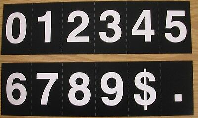 Hymn or church register board extra numeral slides-one each mumbers 0 - 9