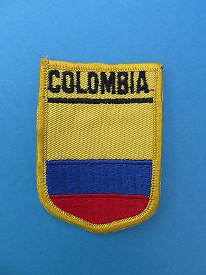 COLOMBIA Shield Patch Jacket Biker Vest Backpack Travel Country Crest