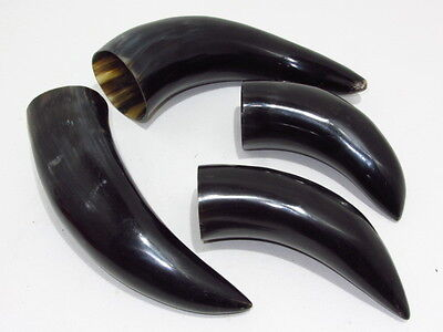 4 Cow horns....04B56.....Natural colored, polished cow horns...