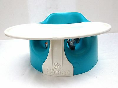 Bumbo Seat Chair & Tray * blue * belt safety strap included baby infant
