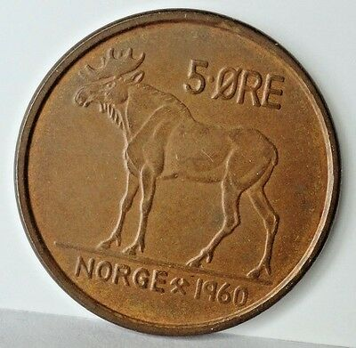 1960 Norway  5 Ore  Uncirculated Ms
