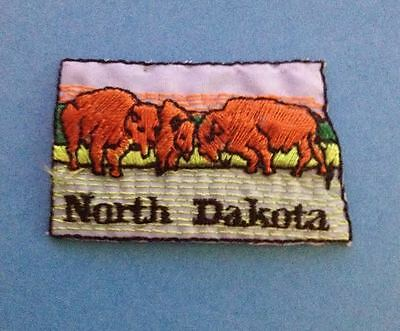 North Dakota Iron On Souvenir Jacket Biker Vest Backpack Travel Patch Crest