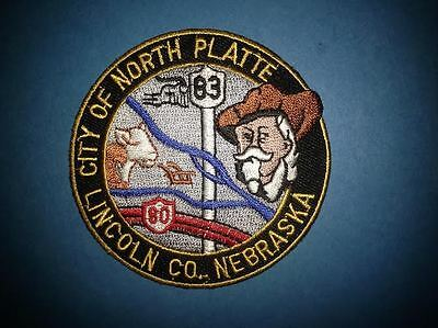 City Of North Platte Lincolin Nebraska Hat Jacket Biker Vest Travel Patch Crest