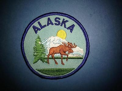 Rare Alaska Sew On Hat Jacket Biker Vest Backpack Travel Patch Crest F