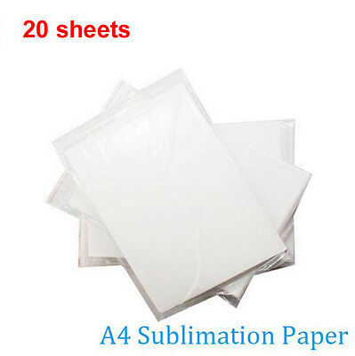 20 sheets A4 tansfer sublimation paper For mug glass rock Non-cotton T-shirt
