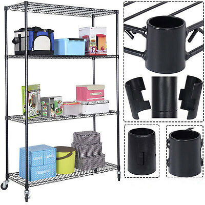 Commercial 4 Tier Layer Shelf Adjustable Steel Wire Metal Storage Organizer Rack