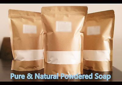 Pure & Natural Powdered Soap/ Soap Flakes 1KG- alternative to chemical powders