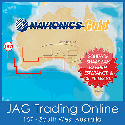 Navionics Gold Small Chart - 8G167S South West Australia - Gps Map Sd/micro Card