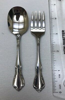 """TODDLETIME by Oneida Baby Infant Child Fork & Spoon Stainless 4 1/4"""""""