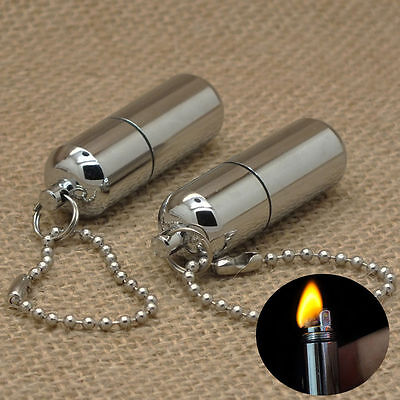 Portable Mini Emergency Gear Fire Stash Waterproof Survival Lighter Camping Tool