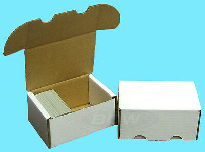 5 BCW 300 COUNT CARDBOARD STORAGE BOXES Trading Sports Card Holder Case Baseball