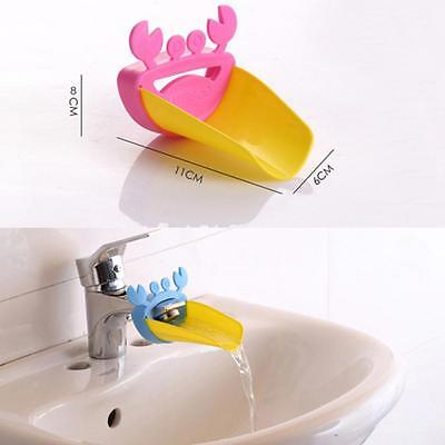 Durable Children Lovely Sink Baby Washing Hands Crab Faucet Extender Bathroom
