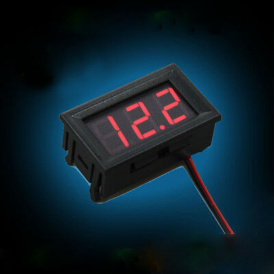 Mini Red LED Digital Voltage Meter Voltmeter Panel DC 4.5~30V Small Portable