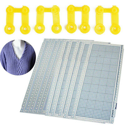 10pcs Blank Punchcard 24 Stitchs For Brother Machine Knitting W/ 4x Plastic Clip