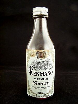 Miniature circa 1978 RENMANO MEDIUM SHERRY Isle of Wine