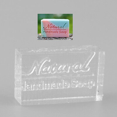 Acrylic Natural Word Design Handmade Soap Stamping Stamp Mold Craft DIY