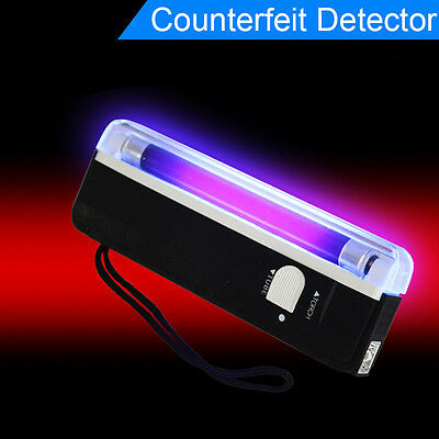 Portable UV BANK NOTE BANKNOTE Checker Money Tester Light Counterfeits Forged