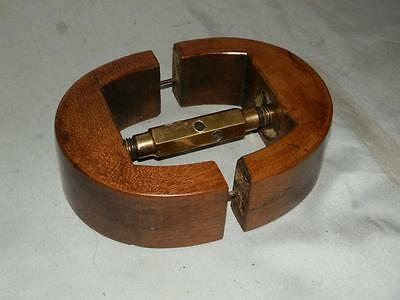 Antique Walnut Wooden Hat Stretcher     (STUNNING PATINA )      (Milliners).