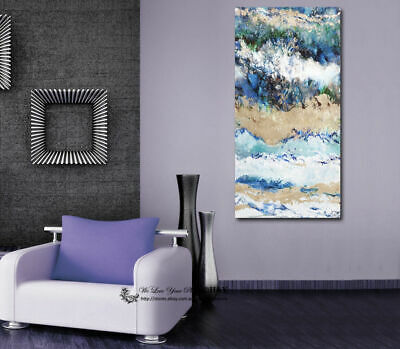 Abstract Blue Stretched Canvas Print Framed Wall Art Home Decor Painting Gift