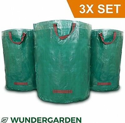 Wundergarden - Large XL Garden Waste Bags In Sets Of 3 Made From Robust PP For