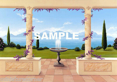 Dolls House Wallpaper Mural 1/12th scale Quality Paper #07 Miniature