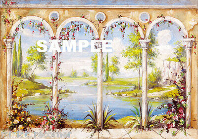 Dolls House Wallpaper Mural 1/12th scale Quality Paper #16 Miniature