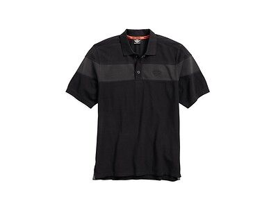 Harley-Davidson Men's Chest Stripe Polo Shirt Gr. XL - Herren Poloshirt, schwarz