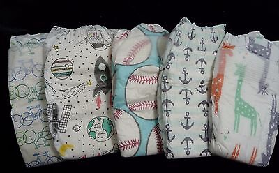 The Honest Company, Boys mix print diapers for Reborn or baby doll, set of 5